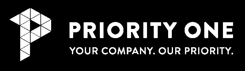 Priority One Holdings Logo in White